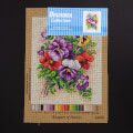 Orchidea 24x30cm Printed Gobelin, Bouquet of Pansies - 2458H