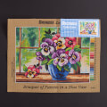 Orchidea 30x40cm Printed Gobelin, Bouquet of Pansies in a Blue Vase