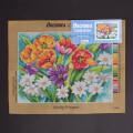 Orchidea 30x40cm Çiçekler Baskılı Goblen - 2538J