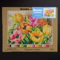 ORCHİDEA 30 x 40 cm Renkli Laleler Baskılı Goblen 2618J