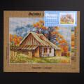 ORCHİDEA 30 x 40 cm Sonbaharda Kulübe Baskılı Goblen 2631J