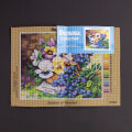 Orchidea 24x30cm Printed Gobelin, Basket of Pansies - 2706H