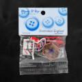 Dress It Up England Theme Decorative Button - 3579