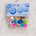 Dress It Up Creative Button Assortment, Tiny Tumblers - 6957