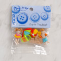 Dress It Up Creative Button Assortment, Day at the Beach - 7674