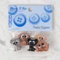 Dress It Up Creative Button Assortment, Playful Puppies