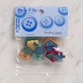 Dress It Up Creative Button Assortment, Feather Nest - 7695
