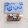 Dress It Up Creative Button Assortment, Noah's Animals - 9003
