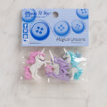 Dress It Up Creative Button Assortment, Magical Unicorns - 9357