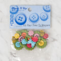 Dress It Up Creative Button Assortment, It's Your Time To Blossom