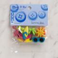 Dress It Up Creative Button Assortment, Summer Bliss - 10266