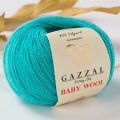Gazzal Baby Wool Knitting Yarn, Blue - 832