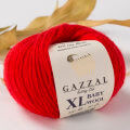 Gazzal Baby Wool XL Knitting Yarn, Red - 811XL