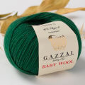 Gazzal Baby Wool Knitting Yarn, Green - 814