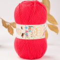 Madame Tricote Paris Lux Baby Knitting Yarn, Red - 2-3010
