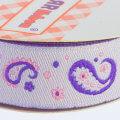 Sticker Ribbon Mor Motif Baskılı Yapışkan Kurdele - SR-1691-V4