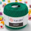 Yarnart Violet Yarn, Green - 6334