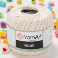 Yarnart Violet Yarn, Cream - 6282