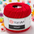 Yarnart Violet Yarn, Red - 6328