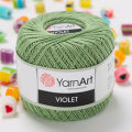 Yarnart Violet Yarn, Green - 6369