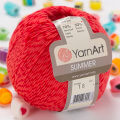 Yarnart Summer Yarn, Red - 16
