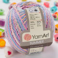 Yarnart Summer Yarn, Variegated Colors - 124