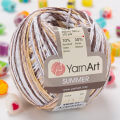 Yarnart Summer Yarn, Variegated Colors - 123