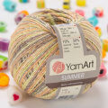 Yarnart Summer Yarn, Variegated Colors - 135