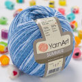 Yarnart Summer Yarn, Variegated Colors - 127