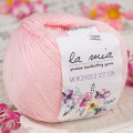 La Mia Mercerized Cotton Yarn, Light Pink - 4