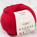 Gazzal Baby Cotton XL Baby Yarn, Red - 3439XL
