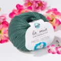 La Mia Pastel 100% Cotton Yarn, Green Black - L055