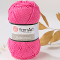 YarnArt Jeans Plus  Cotton Yarn, Pink - 42
