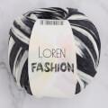 Loren Fashion Siyah Beyaz Rafya Şerit İp - R072