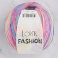 Loren Fashion Açık Gökkuşağı Rafya Şerit İp - R077