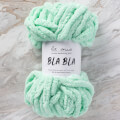 La Mia Bla Bla Fluffy Blanket Yarn, Light Green - LB007