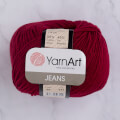 YarnArt Jeans Knitting Yarn, Claret Red - 66