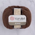 YarnArt Jeans Knitting Yarn, Brown - 70