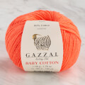 Gazzal Baby Cotton Knitting Yarn, Orange - 3459