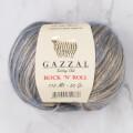 Gazzal Rock'N'Roll Mavi Altın Sarısı El Örgü İpi  - 13478