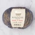 Gazzal Rock'N'Roll Mavi Altın Sarısı El Örgü İpi - 13184
