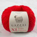 Gazzal Baby Cotton XL Baby Yarn, Red - 3443XL