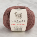 Gazzal Baby Cotton Knitting Yarn, Brown - 3455