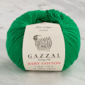 Gazzal Baby Cotton Knitting Yarn, Green - 3456
