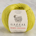 Gazzal Baby Cotton Knitting Yarn, Green - 3457