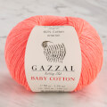 Gazzal Baby Cotton Knitting Yarn, Neon Pink - 3460