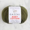 Gazzal Baby Cotton Knitting Yarn, Navy Green - 3463