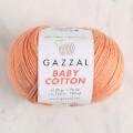 Gazzal Baby Cotton Knitting Yarn, Orange - 3465