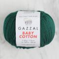 Gazzal Baby Cotton Knitting Yarn, Dark Green - 3467