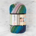 YarnArt Dancing Baby Knitting Yarn, Variegated - 826